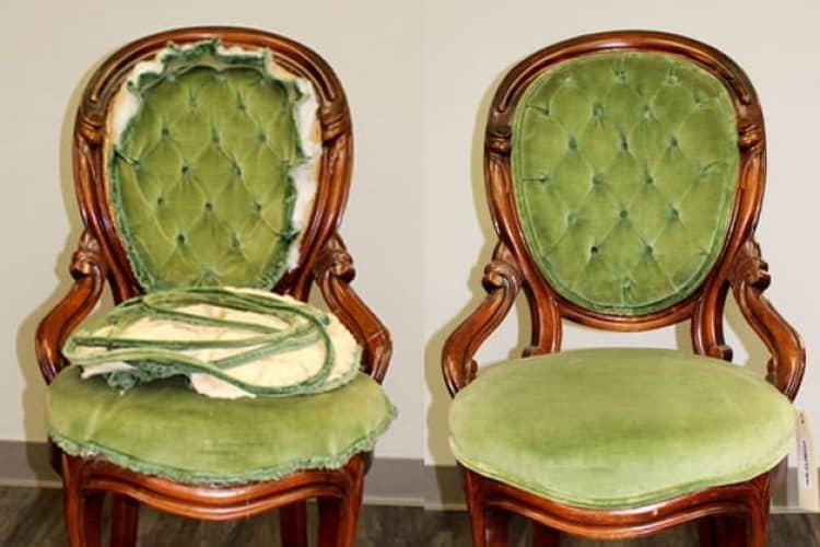 before and after chair