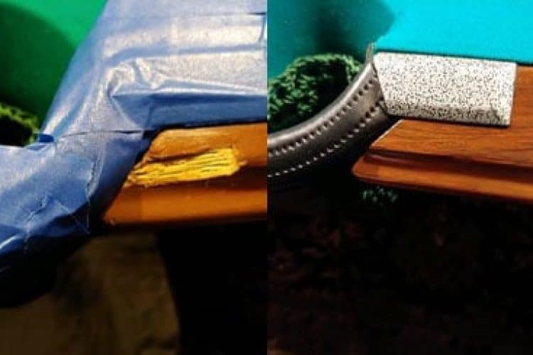 before and after pool table