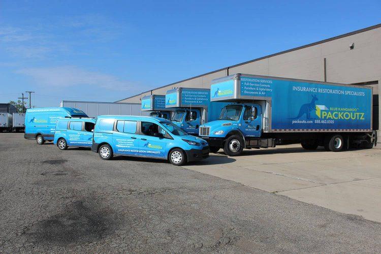 Blue Kangaroo Packoutz Fleet Handles Job of all sizes